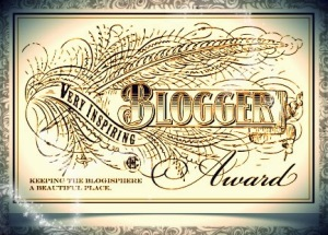 Very Inspiring Blogger award with pixie dust
